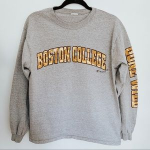 Boston College Gray Long Sleeve Shirt